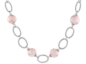 Pre-Owned Lavender Cultured Kasumiga Pearl 10-12mm Rhodium Over Sterling Silver 18 Inch Necklace