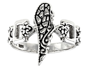 Pre-Owned Sterling Silver Angel Wing Ring