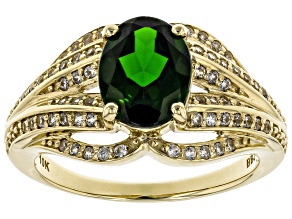 Pre-Owned Green Russian Chrome Diopside 10k Yellow Gold Ring 2.02ctw