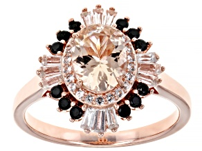 Pre-Owned Pink Morganite 18K Rose Gold Over Sterling Silver Ring 1.15ctw