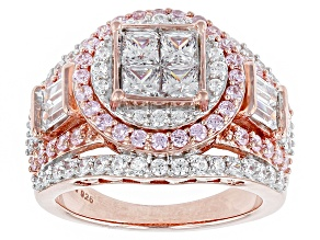 Pre-Owned Cubic Zirconia 18k Rose Gold Over Silver Ring 4.91ctw (2.71ctw DEW)