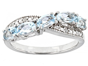 Pre-Owned Sky Blue Topaz Rhodium Over Sterling Silver Ring 1.22ctw