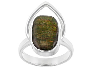 Pre-Owned Ammolite Sterling Silver Ring