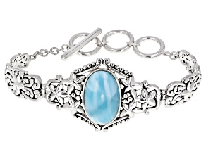 Pre-Owned Blue larimar sterling silver bracelet