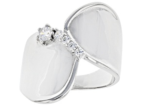 Pre-Owned White Cubic Zirconia Rhodium Over Sterling Silver Ring 0.40ctw (0.24ctw DEW)