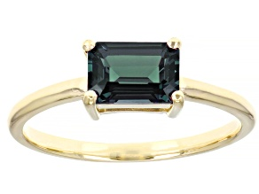 Pre-Owned Blue Lab Created Alexandrite 10k Yellow Gold Solitaire Ring 1.02ctw