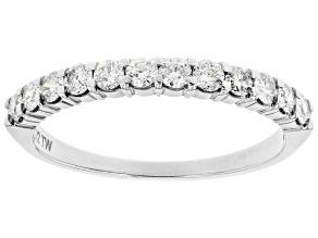 Pre-Owned White Diamond 14k White Gold Band Ring 0.50ctw