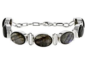 Pre-Owned Labradorite Sterling Silver Bracelet