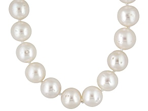 Pre-Owned Cultured Freshwater Pearl Rhodium Over Sterling Silver Necklace 12-13mm