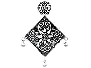 Pre-Owned Artisan Collection Of India™ Floral Design Sterling Silver Pendant