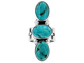 Pre-Owned Turquoise Silver Hand-Crafted Ring