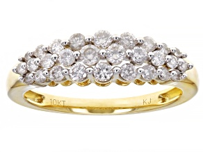 Pre-Owned White Diamond 10K Yellow Gold Band Ring 0.45ctw