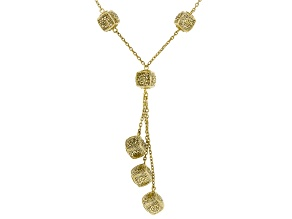 Pre-Owned 18K Yellow Gold Over Silver Rose A La Turca Filigree Y Necklace