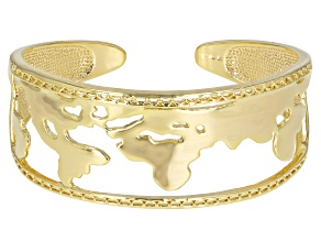 Pre-Owned 18k Gold Over Brass Globe Cuff