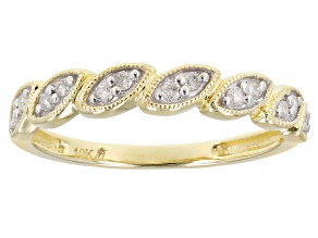 Pre-Owned White Diamond 10k Yellow Gold Band Ring 0.10ctw