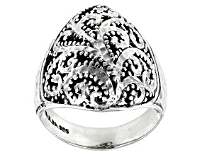"""Pre-Owned Sterling Silver """"Overflowed With Hope"""" Ring"""
