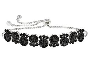 Pre-Owned Black Spinel Sterling Silver Bracelet 2.49ctw