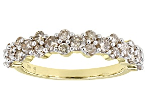 Pre-Owned Candlelight Diamonds™ 10k Yellow Gold Band Ring 1.00ctw