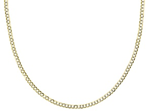 Pre-Owned 14k Yellow Gold & Rhodium Over Yellow Gold Reverso Grumette 18 inch Chain Necklace