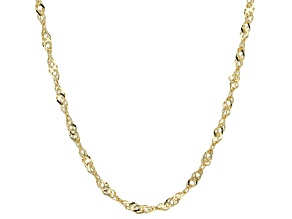 Pre-Owned 10k Yellow Gold Hollow Singapore Link Chain Necklace 24 inch 2.5mm