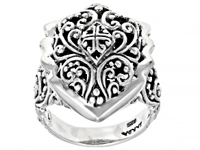 """Pre-Owned Sterling Silver """"Surpasses All Knowledge"""" Ring"""