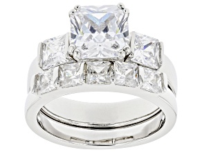 Pre-Owned Cubic Zirconia Rhodium Over Silver Ring and Band 4.16ctw  (2.96 DEW)