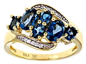 Pre-Owned London Blue Topaz 3k Yellow Gold Ring 1.82ctw