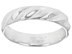 Pre-Owned Sterling Silver Twisted Band Ring