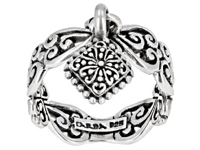"""Pre-Owned Sterling Silver """"Adair"""" Charm Ring"""
