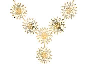 Picture of Pre-Owned Gold Tone Sunflower Necklace