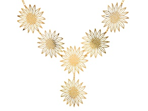 Pre-Owned Gold Tone Sunflower Necklace