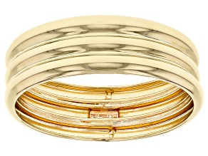 Pre-Owned 10K Yellow Gold Multi-Row Band Ring