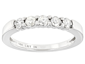 Pre-Owned White Diamond 14K White Gold Band Ring 0.40ctw