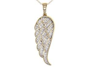 Pre-Owned White Diamond 14k Yellow Gold Pendant .15ctw