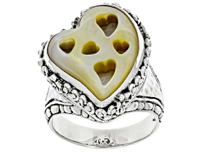 Pre-Owned South Sea Mother-of-Pearl Silver Ring