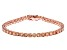 Pre-Owned Champagne Cubic Zirconia 18K Rose Gold Over Sterling Silver Tennis Bracelet 17.80ctw