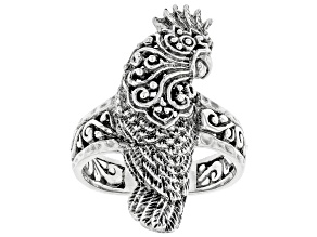 Pre-Owned Sterling Silver Carved Parrot Ring