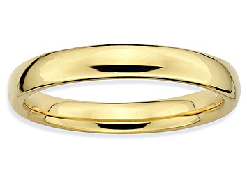 Picture of Pre-Owned 14k Yellow Gold Over Sterling Silver Polished Band Ring