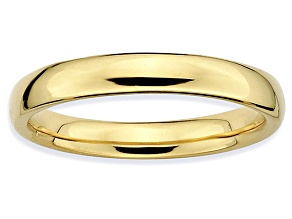 Pre-Owned 14k Yellow Gold Over Sterling Silver Polished Band Ring