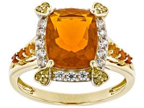 Pre-Owned Orange Fire Opal 14k Yellow Gold Ring 2.06ctw