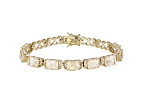 Pre-Owned Yellow Rutilated Quartz 18k Yellow Gold Over Sterling Silver Tennis Bracelet 18.66ctw