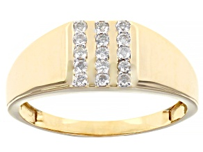 Pre-Owned White Diamond 10K Yellow Gold Mens Ring 0.25ctw