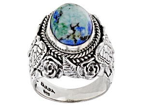 Pre-Owned Bali Blue™ Barite Sterling Silver Butterfly Ring
