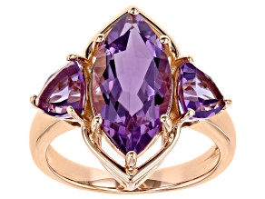 Pre-Owned Lavender Amethyst 18K Rose Gold Over Sterling Silver Ring 4.60ctw