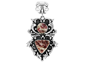 Pre-Owned Artisan Collection of India™ Rough Pink Tourmaline In Quartz Sterling Silver Pendant