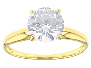 Pre-Owned White Cubic Zirconia 1k Yellow Gold Ring 2.97ctw