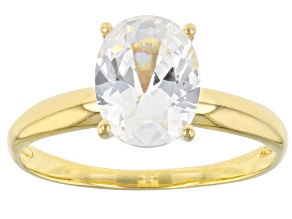 Pre-Owned White Cubic Zirconia 1k Yellow Gold Ring 2.88ctw