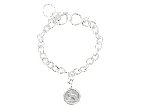 Pre-Owned Thrupenny Coin Base Metal Bracelet