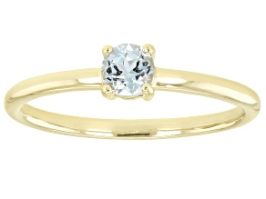 Pre-Owned Blue Topaz 10K Yellow Gold Solitaire Ring. 0.26ctw