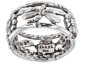 Pre-Owned Sterling Silver Dragonfly Ring
